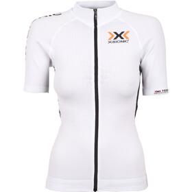 X-Bionic The Trick Biking Shirt SS Full-Zip Damen white/black